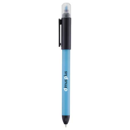 Double-Trouble Ballpoint Pen-Highlighter, SM-4308, 1 Colour Imprint