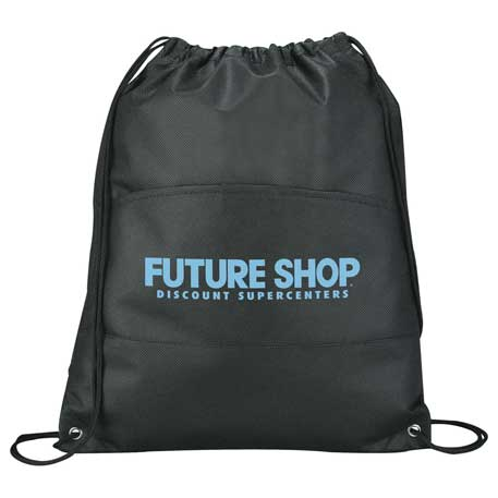 Coast Non-Woven Drawstring Bag, SM-7347, 1 Colour Imprint