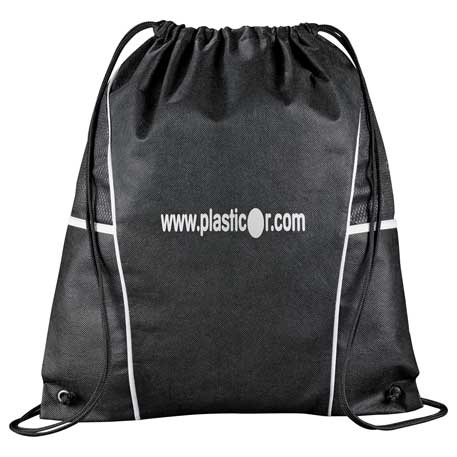 Diamond Non-Woven Drawstring Bag, SM-7340, 1 Colour Imprint