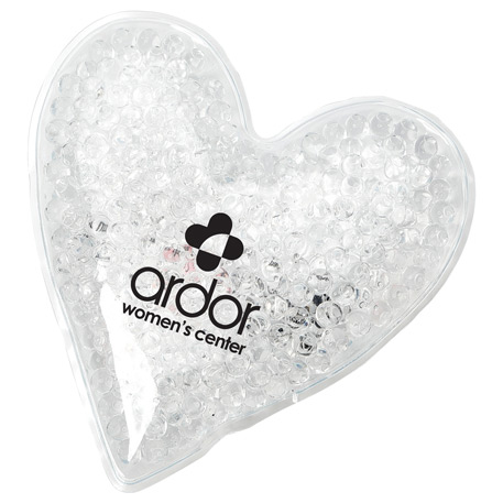 Mini Heart Hot/Cold Gel Pack, SM-1591, 1 Colour Imprint