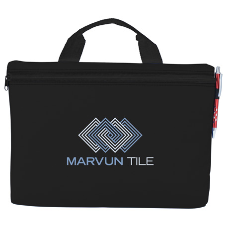 Edge Document Briefcase, SM-7282, 1 Colour Imprint