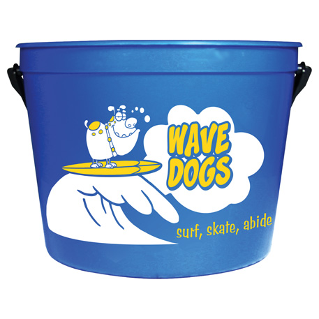 64-oz. Pail with Handle, HL-106 - 1 Colour Imprint