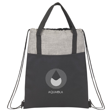 Cycle Recycled Drawstring Bag, SM-5893, 1 Colour Imprint