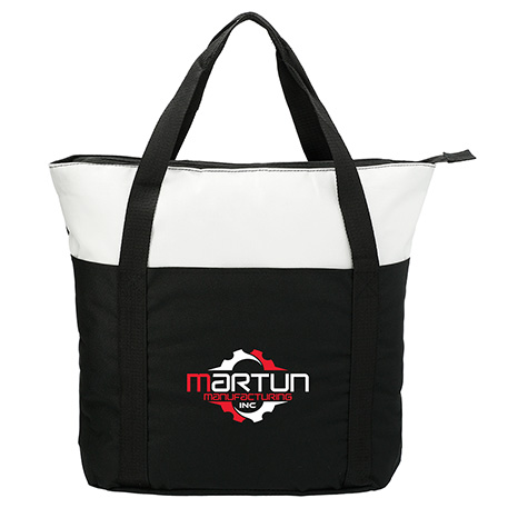 Heavy Duty Zippered Convention Tote, SM-7539, 1 Colour Imprint