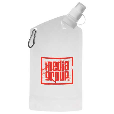 Cabo 20oz Water Bag with Carabiner, SM-6600, 1 Colour Imprint
