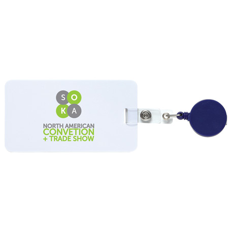 Easy To Go Round Badge Holder, SM-2464, 1 Colour Imprint