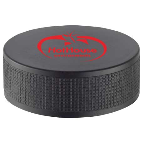Hockey Puck Stress Reliever, SM-3384 - 1 Colour Imprint