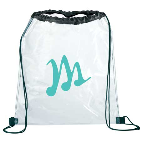 Rally Clear Drawstring Bag, SM-7200, 1 Colour Imprint