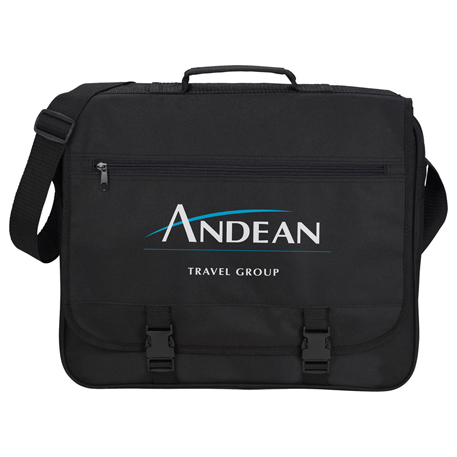 Anchorage Double Clip Messenger Bag, SM-7161, 1 Colour Imprint