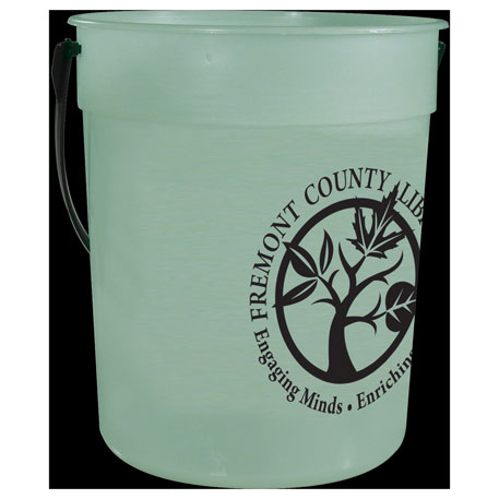 87-oz. Glow-in-the-Dark Pail with Handle, HL-127 - 1 Colour Imprint