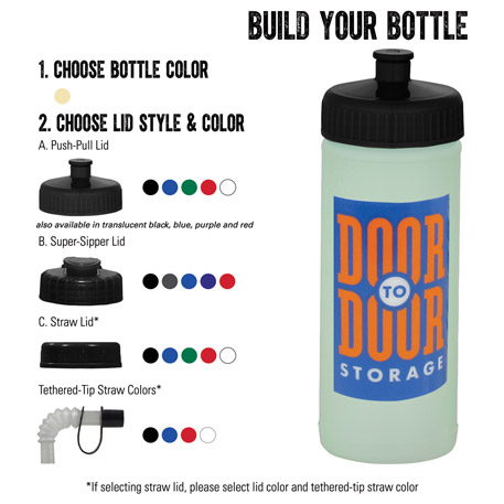 16-oz. Glow Sports Bottle, HL-22 - 1 Colour Imprint