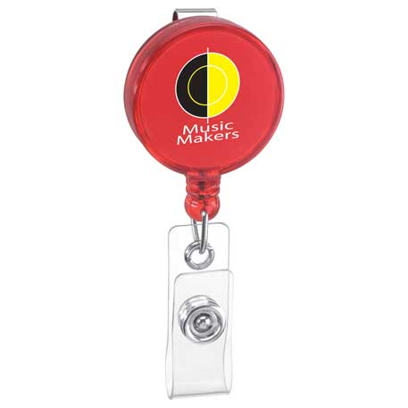 Round Badge Holder, SM-2404 - 1 Colour Imprint