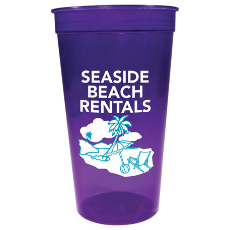 Jewel Translucent 32oz Stadium Cup, HL-583, 1 Colour Imprint