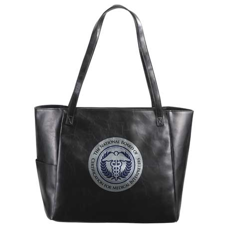 Classic Vinyl Business Tote, SM-7096 - 1 Colour Imprint