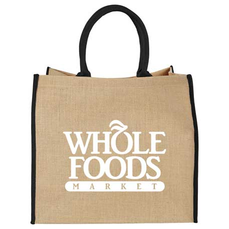 Large Jute Tote, SM-7126 - 1 Colour Imprint