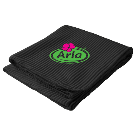 Ribbed Fleece Blanket, SM-7709, 1 Colour Imprint
