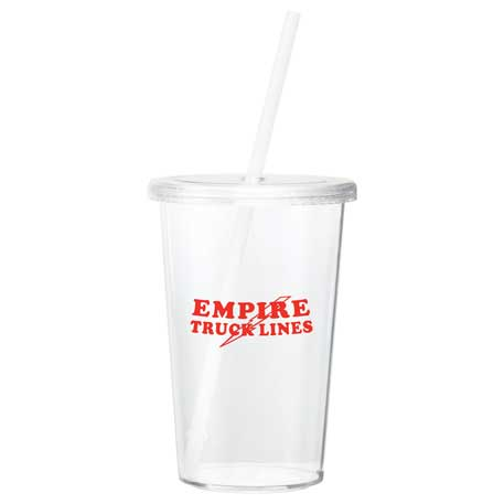 Sizzle 16-oz. Tumbler with Straw, SM-6728 - 1 Colour Imprint