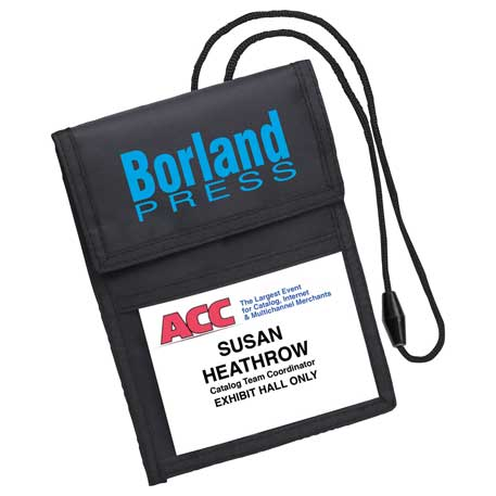 Deluxe ID / Badge Holder, SM-2408, 1 Colour Imprint