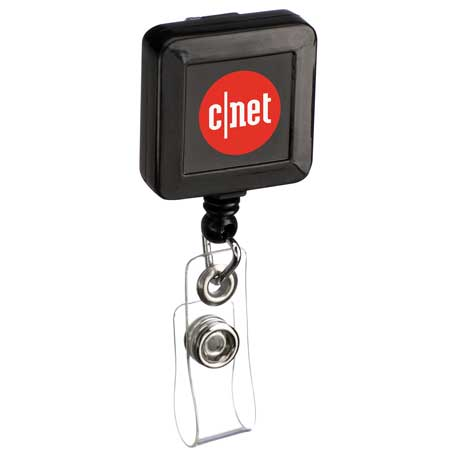 Square Badge Holder, SM-2381 - 1 Colour Imprint