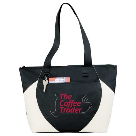 Asher Zippered Convention Tote, SM-7584, 1 Colour Imprint