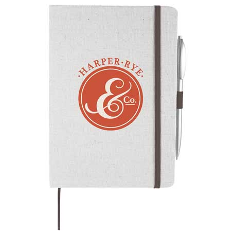 Luna Canvas Notebook, SM-3481 - 1 Colour Imprint