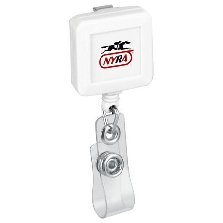 Square Badge Holder, SM-2321, 1 Colour Imprint