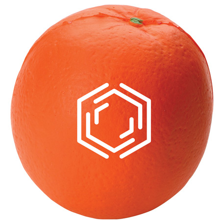 Orange Stress Reliever, SM-3064, 1 Colour Imprint