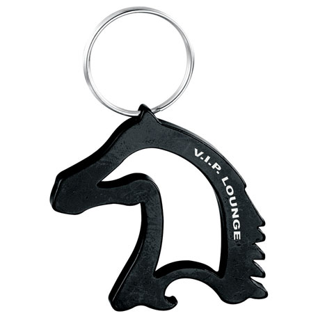 Horse Head-Shaped Bottle / Can Opener, SM-9729 - Laser Engraved Imprint