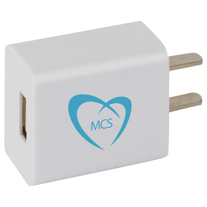 Peak ETL Certified USB AC Adaptor, SM-3720 - 1 Colour Imprint