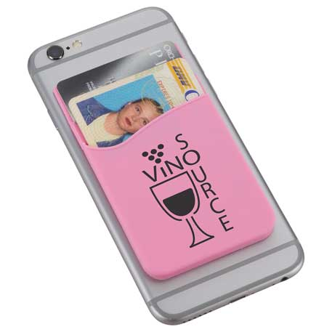 Dual Pocket Slim Silicone Phone Wallet, SM-2562 - 1 Colour Imprint