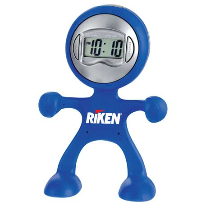 The Flex Man Digital Clock, SM-3046 - 1 Colour Imprint