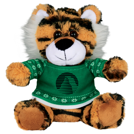 """Ugly Sweater 6"""" Tiger, SM-2186 - 1 Colour Imprint"""