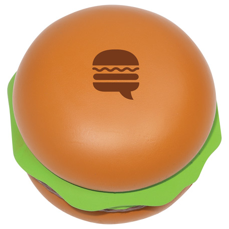 Hamburger Stress Reliever, SM-3068, 1 Colour Imprint