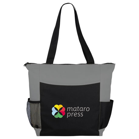 Grandview Zippered Convention Tote, SM-7255, 1 Colour Imprint