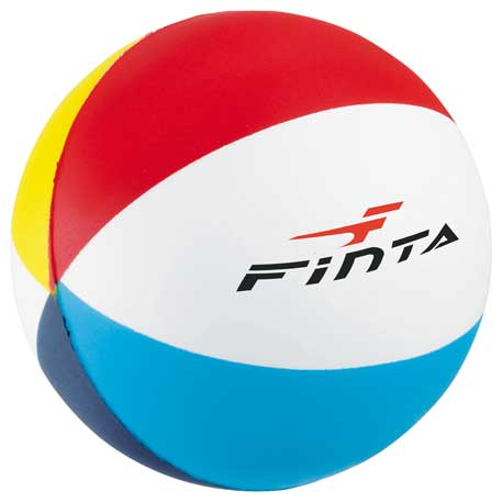 Beach Ball Stress Reliever, SM-3355 - 1 Colour Imprint