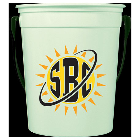 32oz Glow-in-the-Dark Pail with Handle, HL-124, Full Colour Imprint