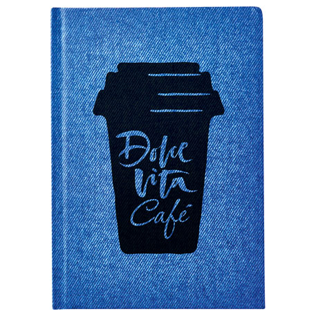 Denim Look Notebook, SM-3570, 1 Colour Imprint