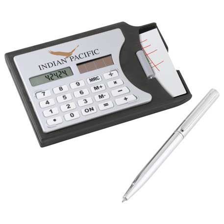 Business Card Holder with Calculator, SM-3105, 1 Colour Imprint