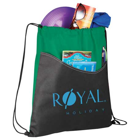 Rivers Non-Woven Drawstring Bag, SM-7289, 1 Colour Imprint