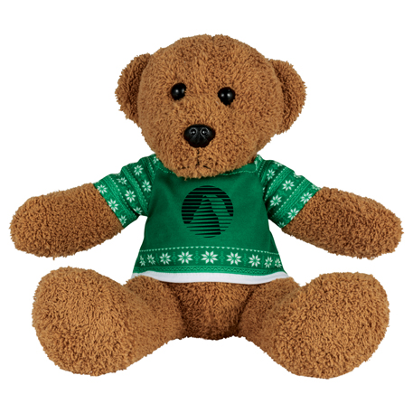"8"" Ugly Sweater Rag Bear, SM-2191, 1 Colour Imprint"