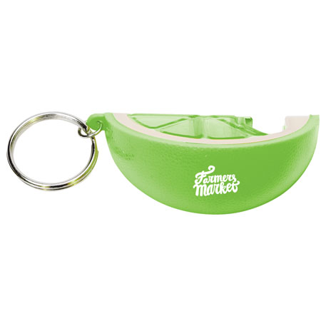 Lemon Keychain with Bottle Opener, SM-2337, 1 Colour Imprint