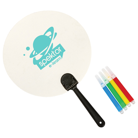 Coloring Paper Fan Set, SM-3084, 1 Colour Imprint