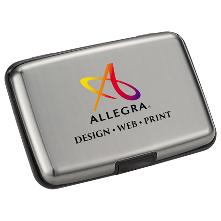 Discovery Aluminum Card Case, SM-9595 - Laser Engraved Imprint