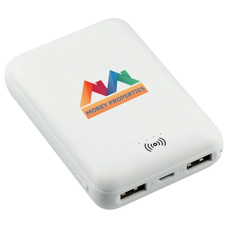 Halley 5000 mAh Wireless Power Bank, SM-2822, 1 Colour Imprint