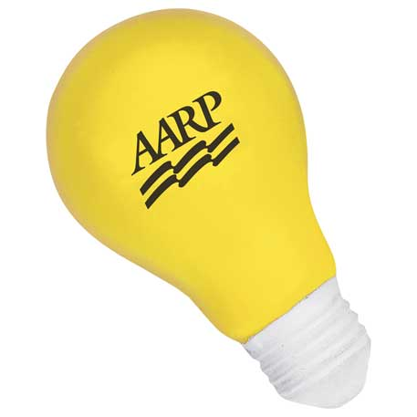 Light Bulb Stress Reliever, SM-3354 - 1 Colour Imprint