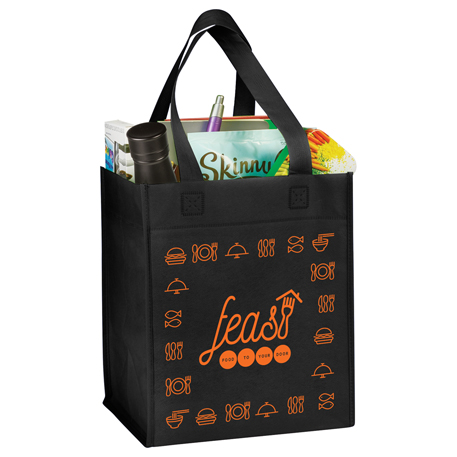 Basic Grocery Tote, SM-7725, 1 Colour Imprint