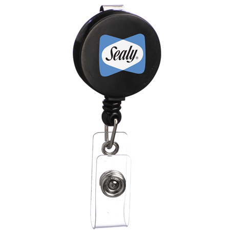 Round Badge Holder, SM-2406, 1 Colour Imprint