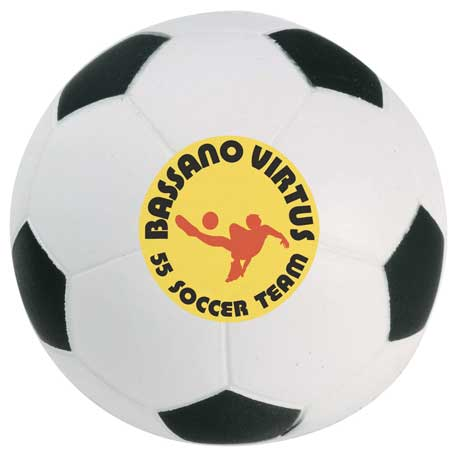 Soccer Ball Stress Reliever, SM-3389, 1 Colour Imprint