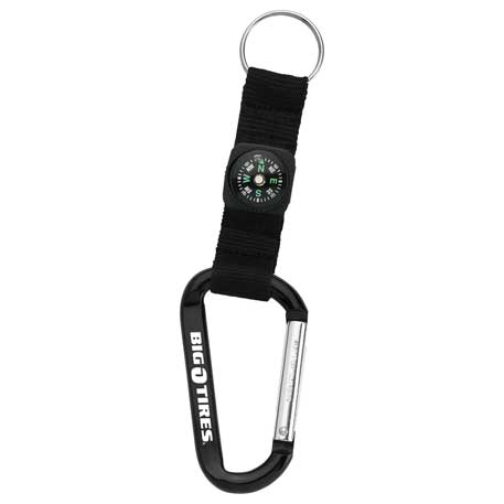 Carabiner with Compass, SM-2374 - 1 Colour Imprint