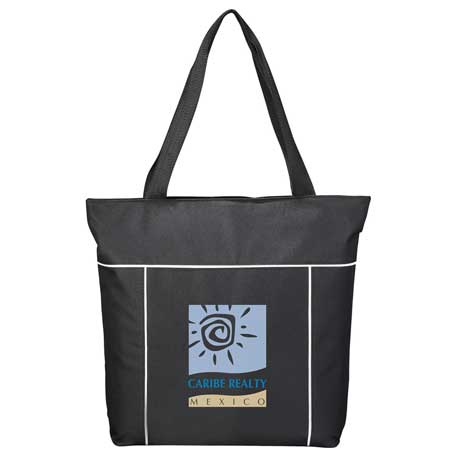 Broadway Zippered Business Tote, SM-7313, 1 Colour Imprint
